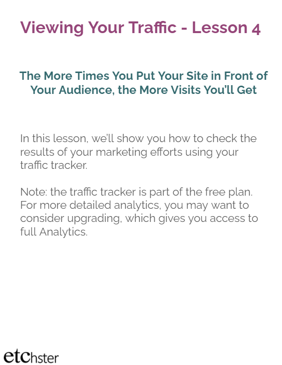 Tracking Traffic to Your Profiile